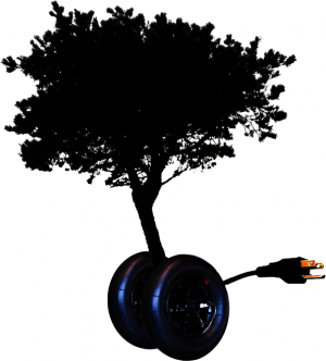 It is a tree. With wheels. And a plug. Any questions?